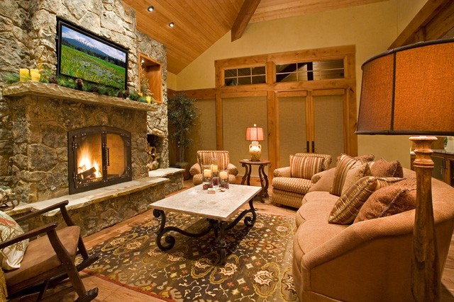 7 cozy fireplaces to warm you up this winter huffpost - Interior design living room warm ...