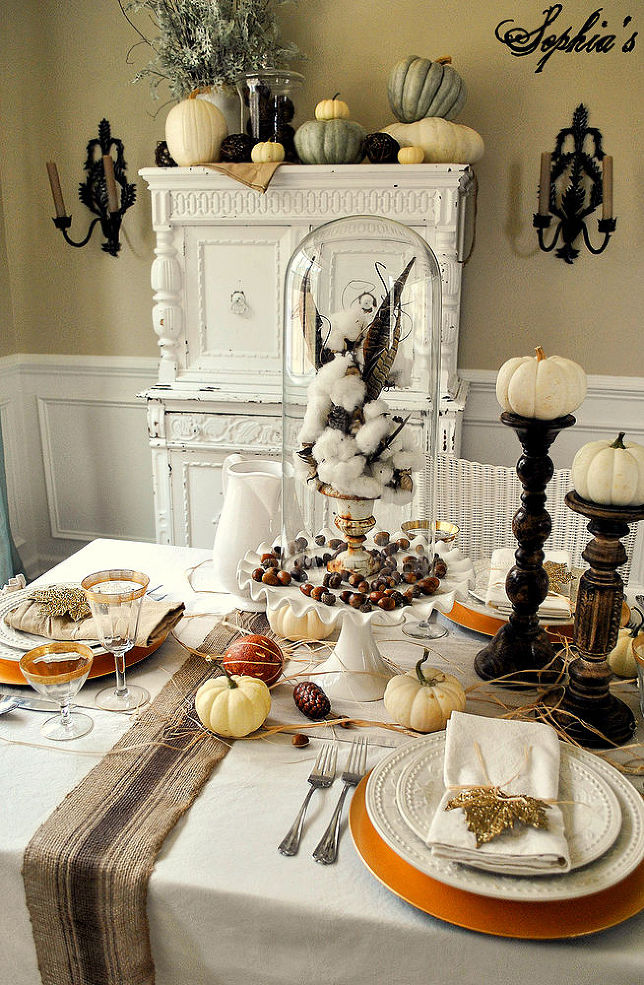 Fantastic 26 Gorgeous Ways To Make Your Thanksgiving Table Sparkle Download Free Architecture Designs Sospemadebymaigaardcom