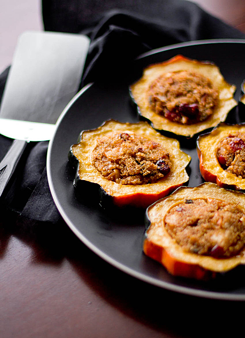 Roasted Acorn Squash With Quinoa And Red Rice Stuffing Recipes ...