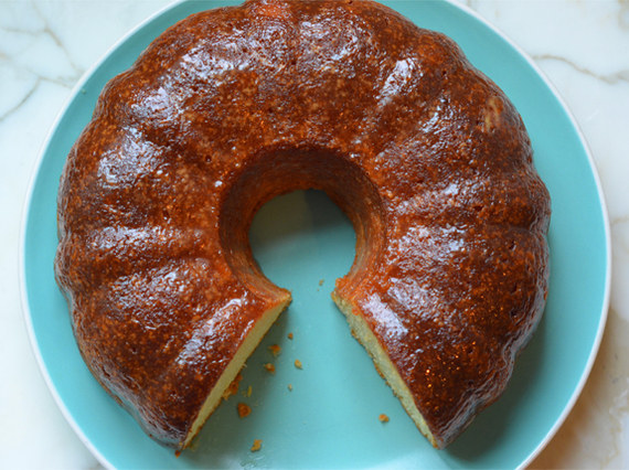 ... had the famous duncan hines rum cake an incredibly rich butter and rum