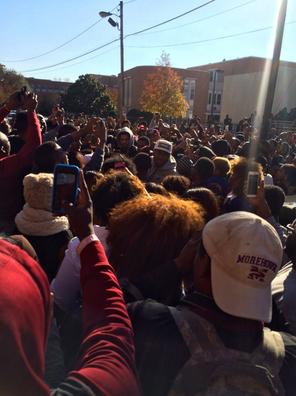 Images J. Cole Visits Morehouse Students 1 Morehouse College