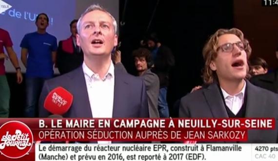 Jean Sarkozy au meeting de Bruno Le Maire