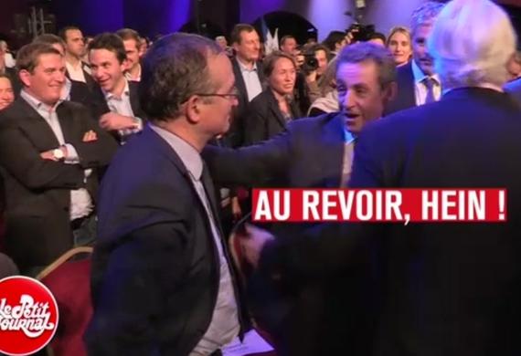 Herve Mariton et Nicolas Sarkozy