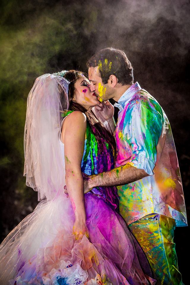 7 Unique Ways to Add Color to Your Wedding Dress | Evey Rosenbloom ...