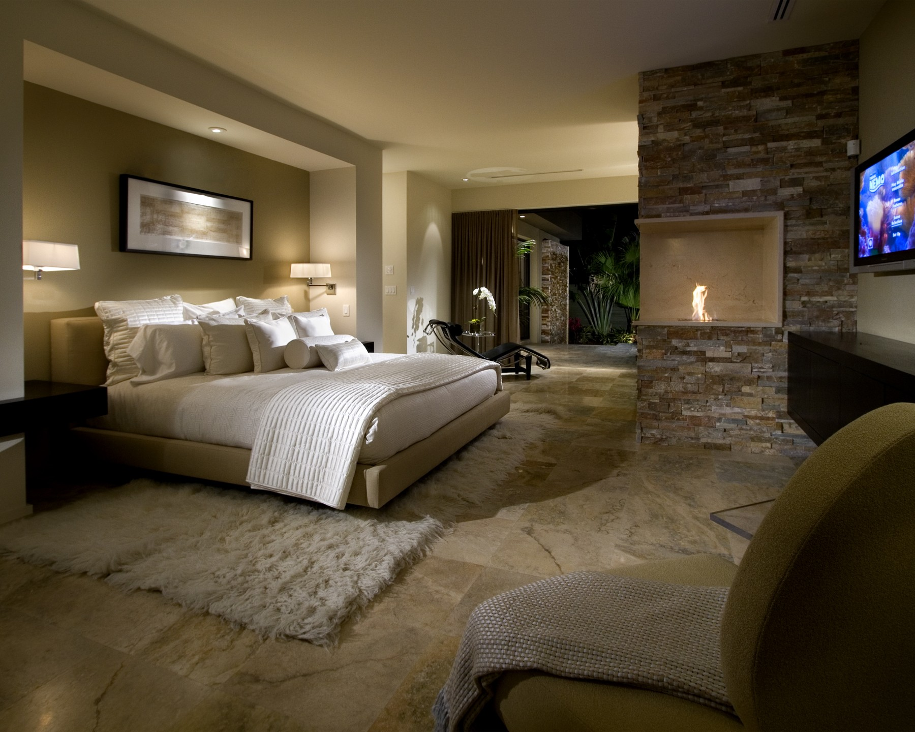 6 Bedrooms With Fireplaces We Would Love To Wake Up To Huffpost: cot design for master bedroom