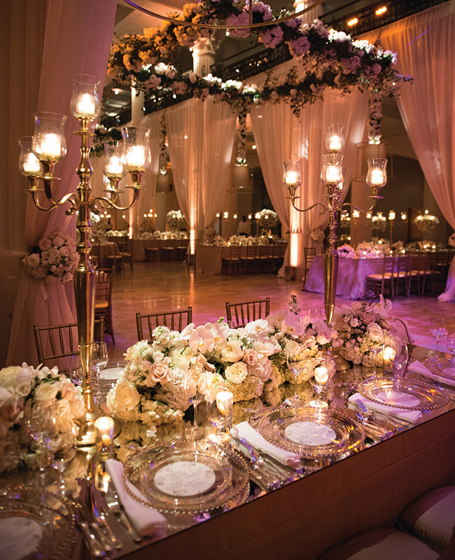 Ways to add glam factor your reception using mirrors