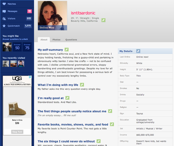 30 Days of Online Dating: That Is So Not Ok, Cupid | HuffPost