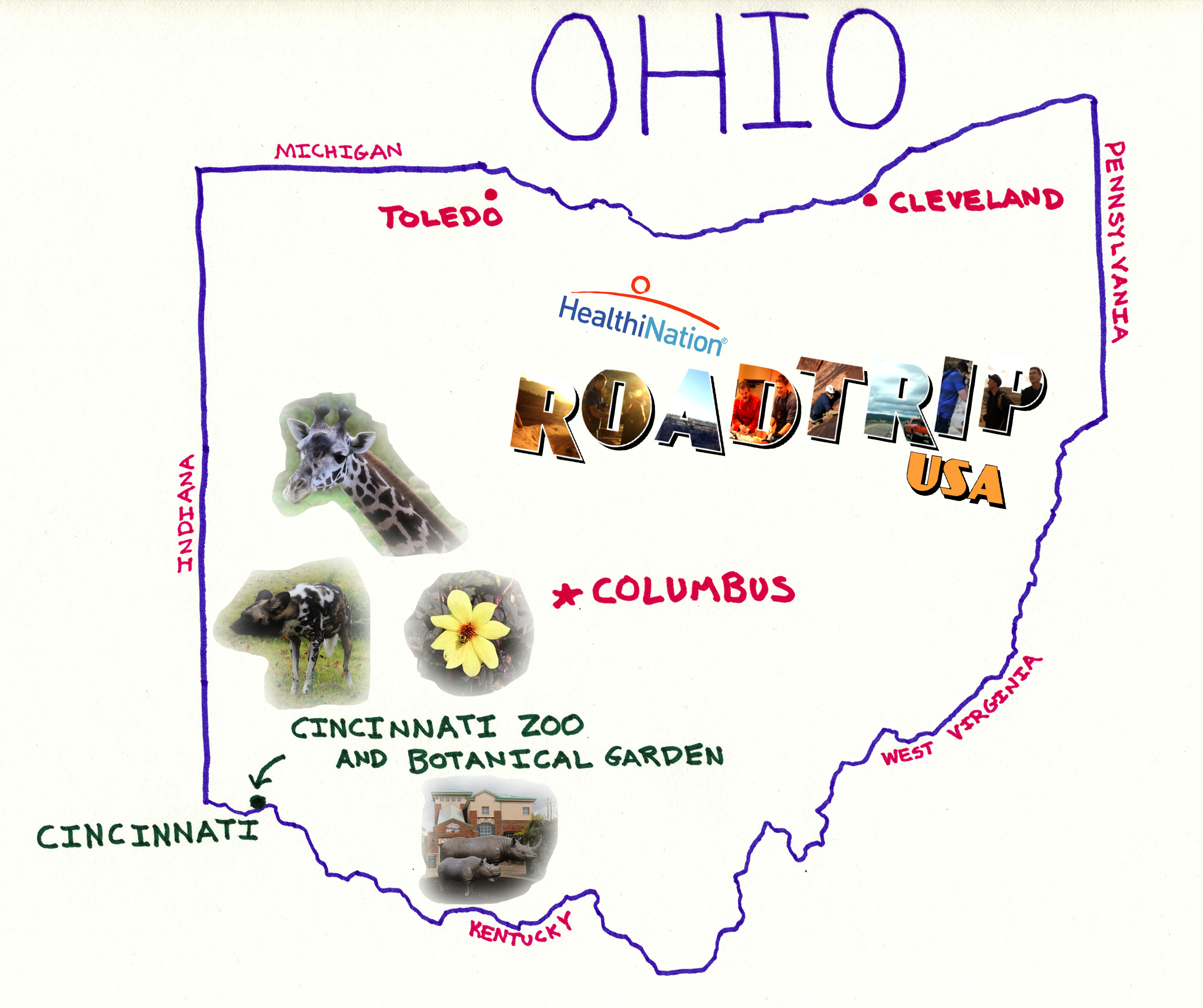 Road Trip USA Ohio – Ohio Tourist Attractions Map
