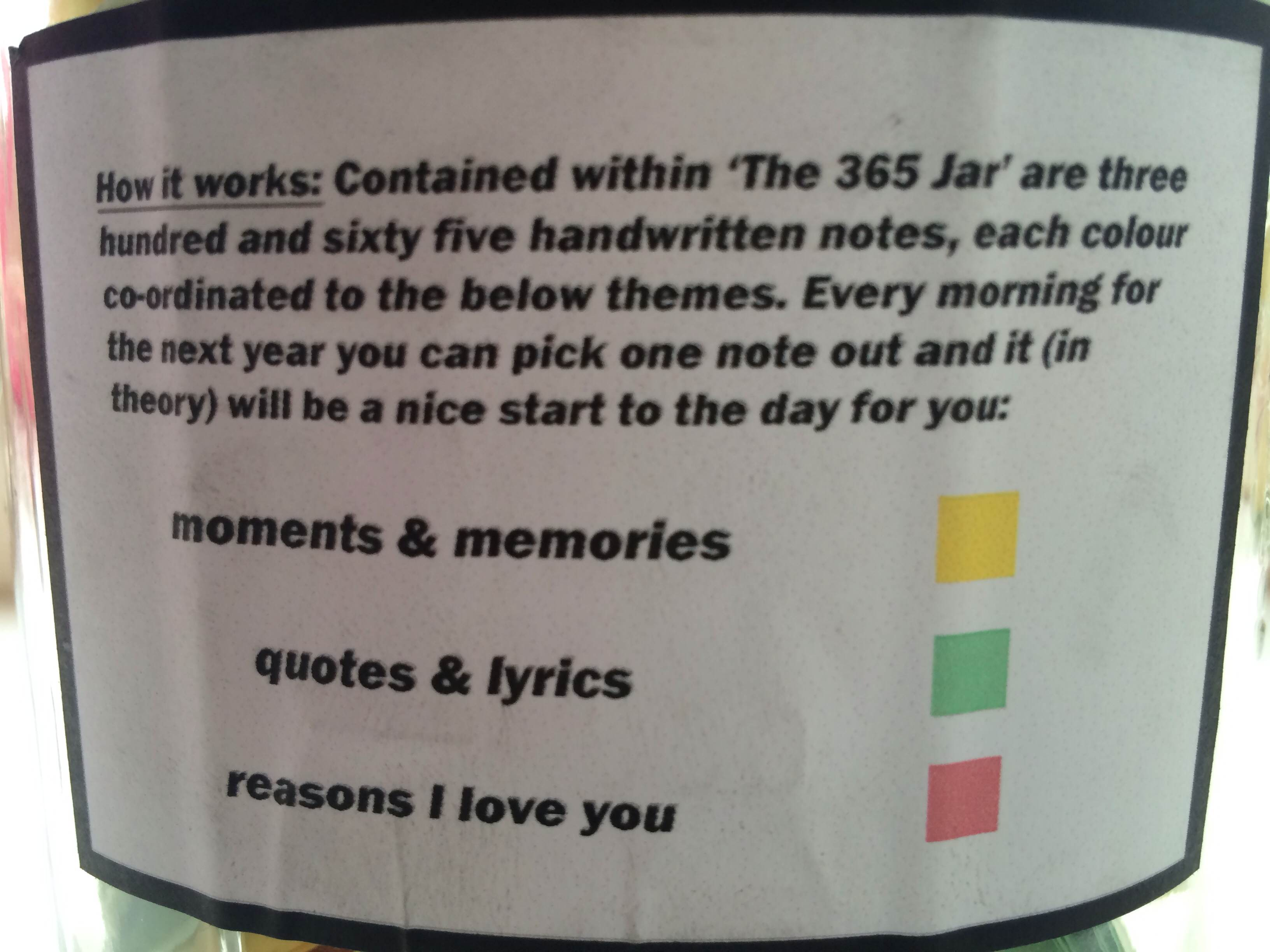 Quotes Jar Boyfriend Declares Love For Girlfriend In 365 Handwritten Notes