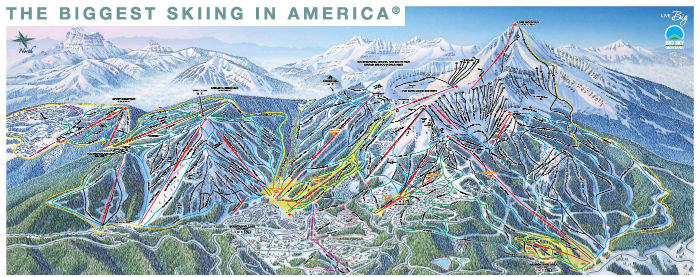 Us Ski Resorts Map Poster Globalinterco - Us ski resorts map