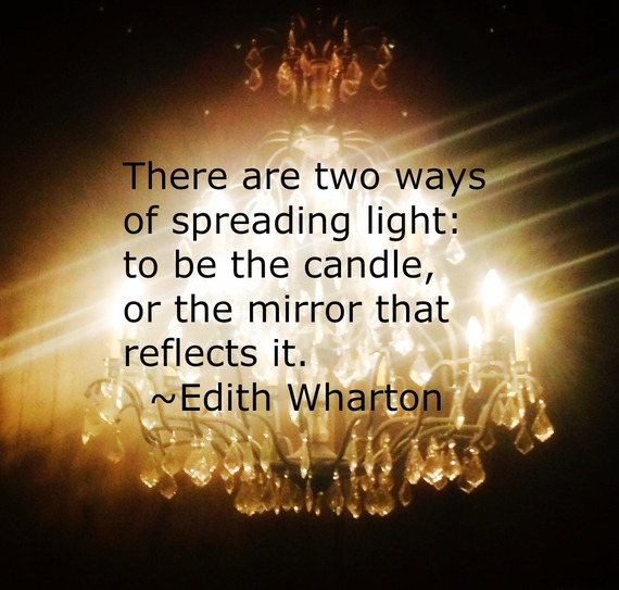 """""""There are two ways of spreading light: to be the candle, or the mirror that reflects it.""""  ~ Edith Wharton #quote http://charityideasblog.com A Dozen #Inspiring Quotes for an Insightful 2015"""
