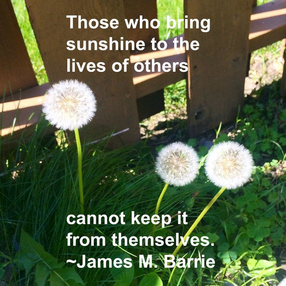 """""""Those who bring sunshine to the lives of others cannot keep it from themselves."""" ~ James M. Barrie #quote from http://charityideasblog.com A Dozen #Inspiring Quotes for an Insightful 2015"""