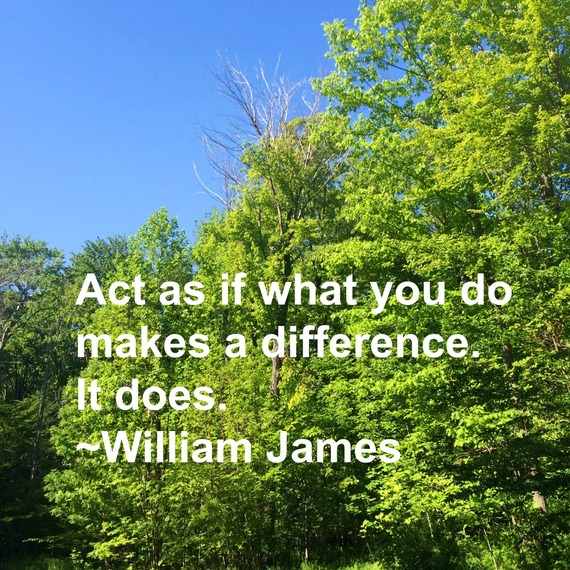 """""""Act as if what you do makes a difference. It does."""" ~ William James #quote http://charityideasblog.com A Dozen #Inspiring Quotes for an Insightful 2015"""