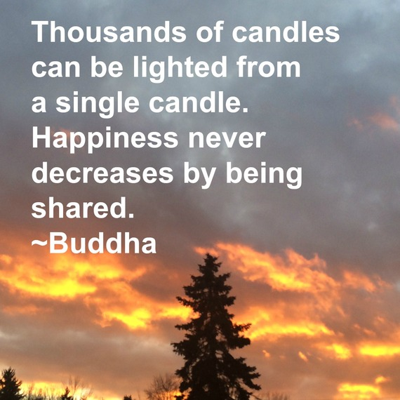 """""""Thousands of candles can be lighted from a single candle. Happiness never decreases by being shared."""" ~ Buddha #quote http://charityideasblog.com A Dozen #Inspiring Quotes for an Insightful 2015"""