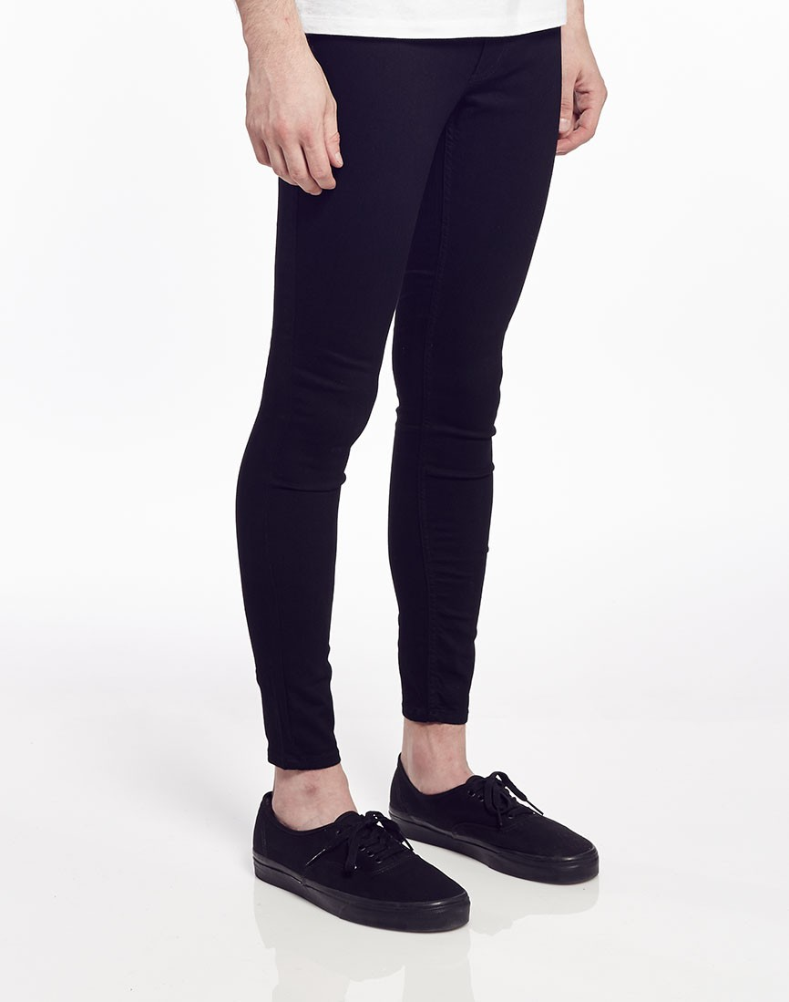 Our skinny jeans for women come in a variety of rises from low to super high. On top of that, we carry skinny jeans in a range of different washes from light to dark. If you want to go for a trendier, edgier look, we recommend a pair of distressed jeans.