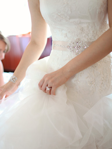 Wedding Photo of Bride Dress and Ring