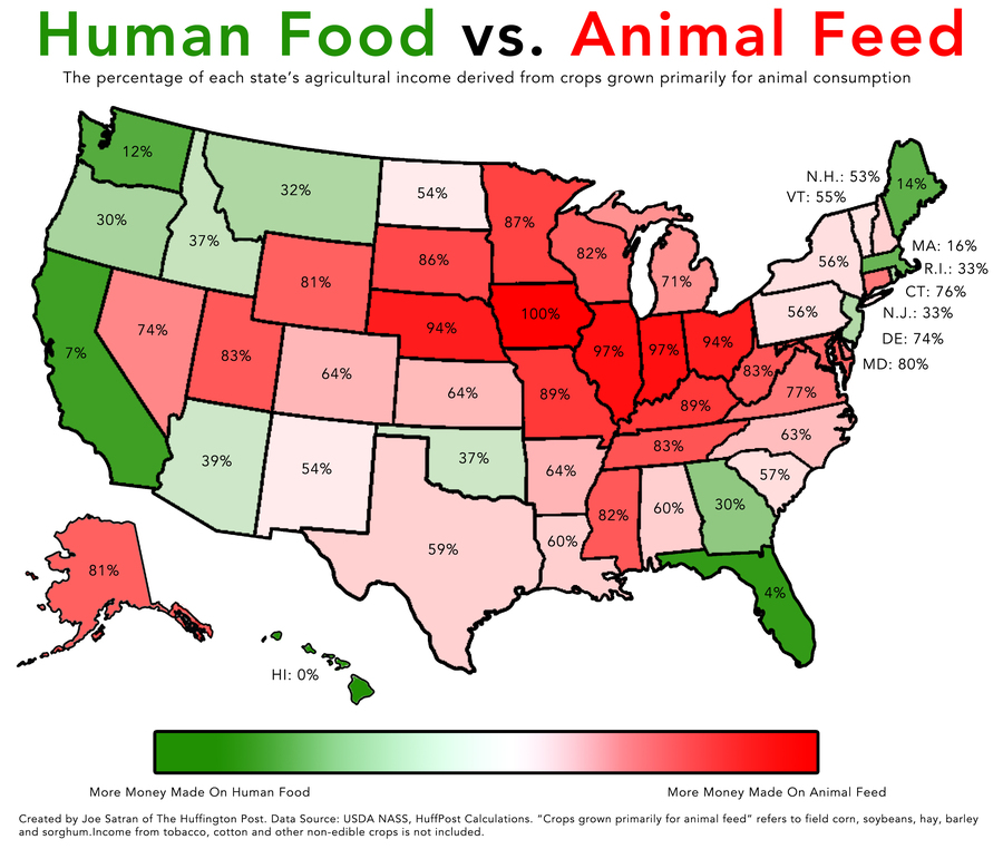 2 Simple Maps That Reveal How American Agriculture Actually Works