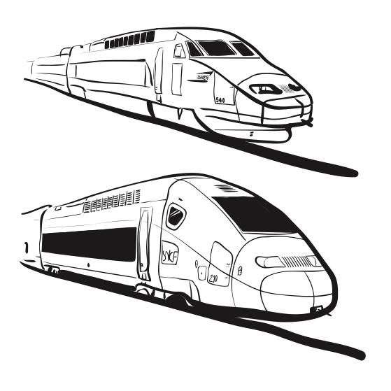 Le design du tgv et ses d rives - Comment dessiner un train ...