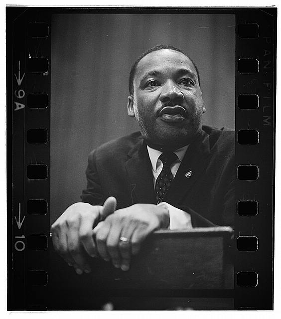 2015-01-19-mlkfilmphoto.jpg. Photo Credit Library of Congress. Martin Luther King Jr. ...