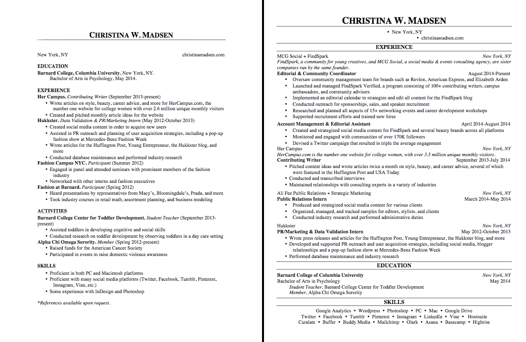 Making Resume What Line Spacing Use