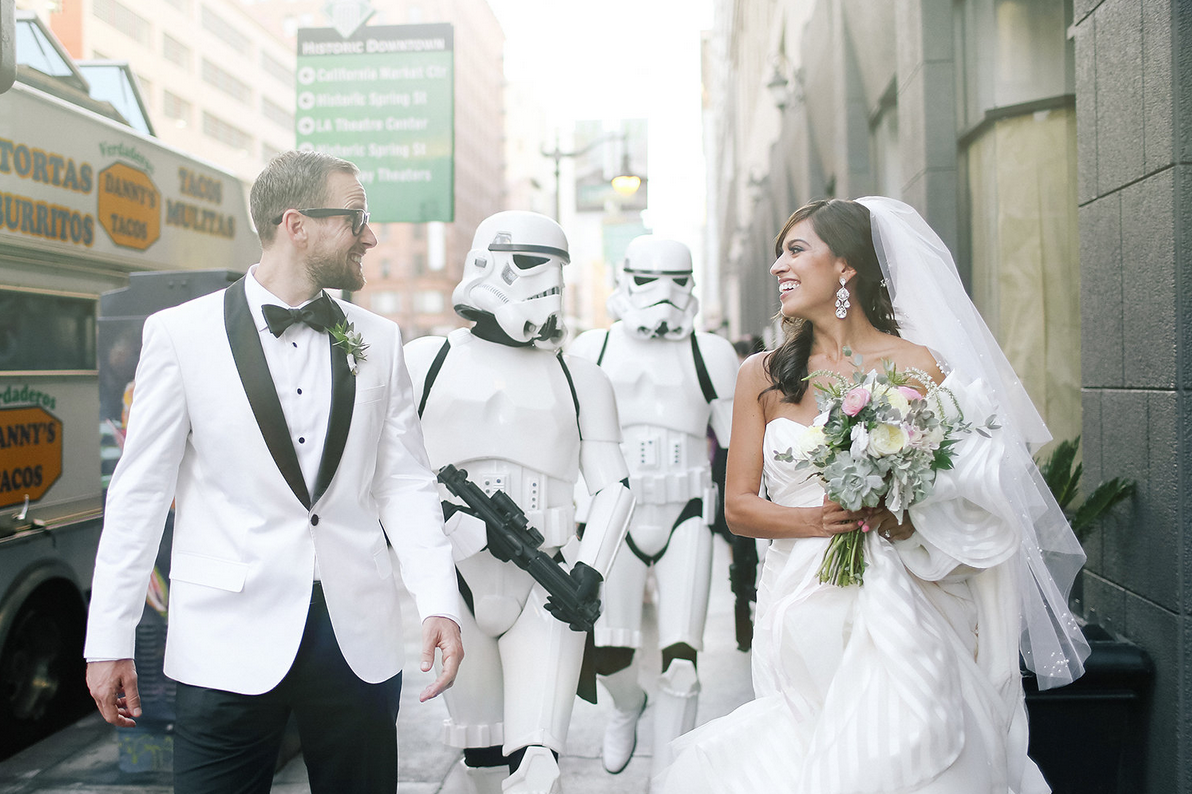 This 'Star Wars' Wedding Is Equal Parts Geek And Chic