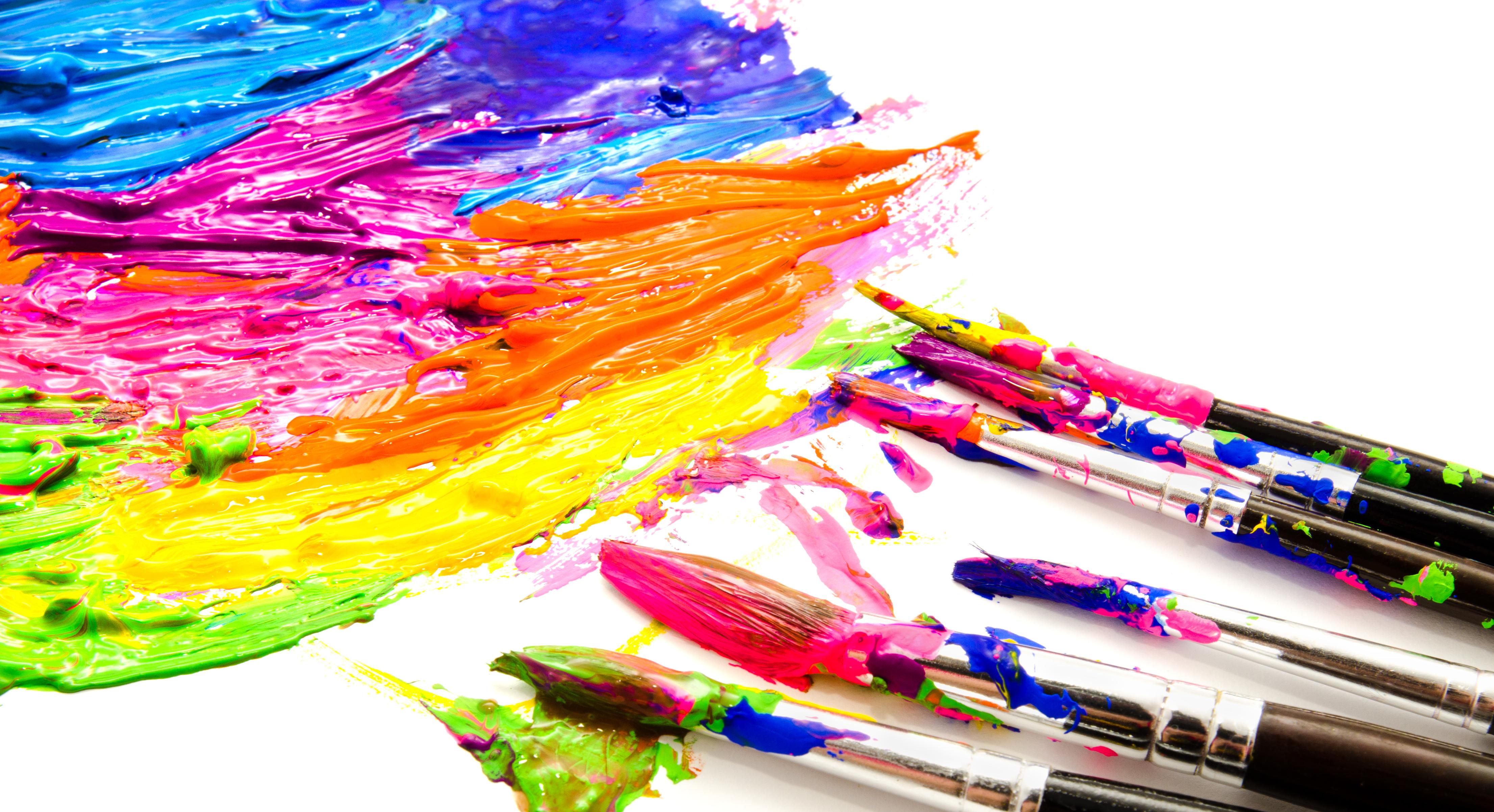 Paint Stroke Bright Colours