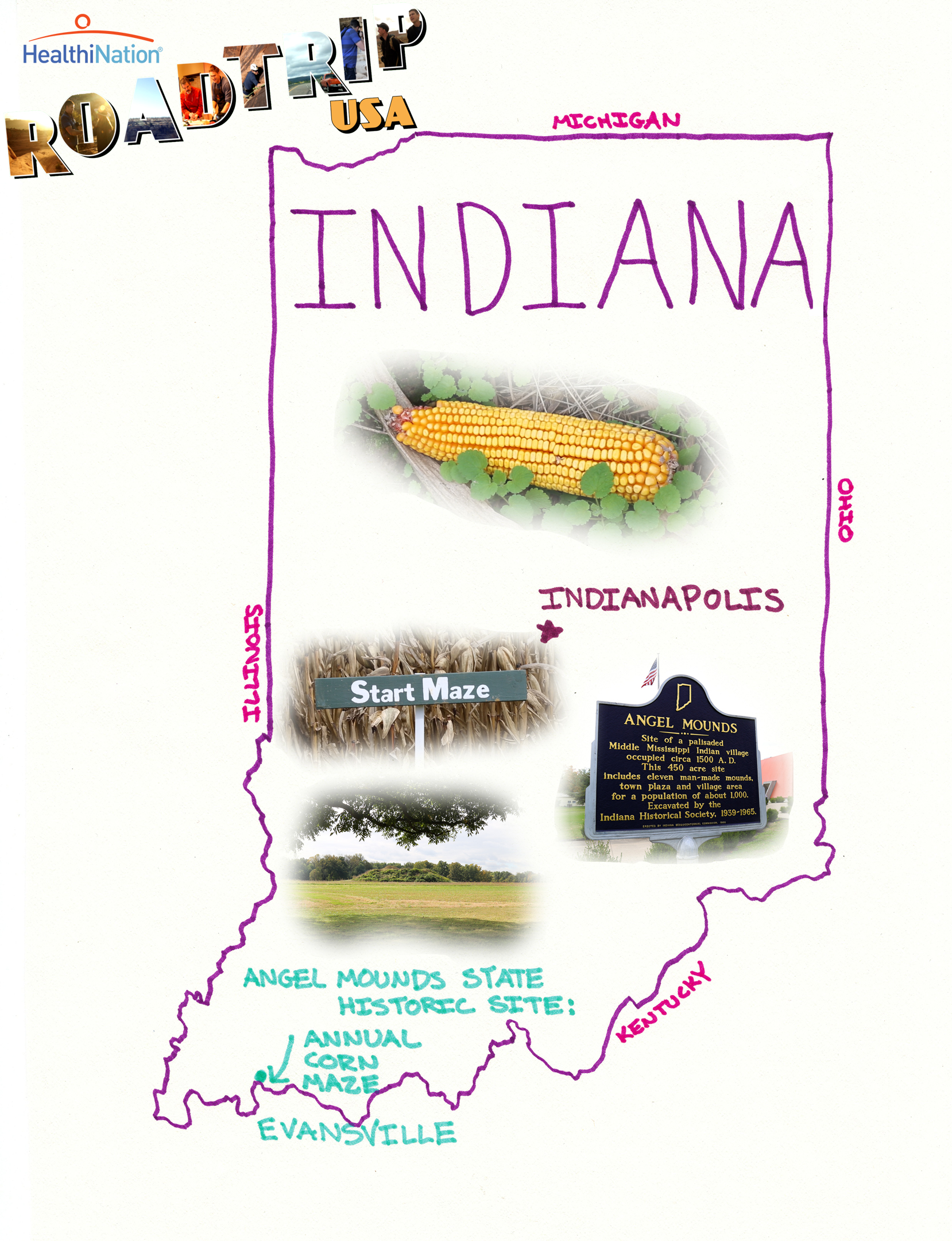 Road Trip U.S.A.: Indiana | HuffPost Life Indianamap State Of Emergency on