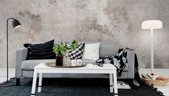Ways Wallpaper Became Cool Again HuffPost - Living room wallpaper 2015