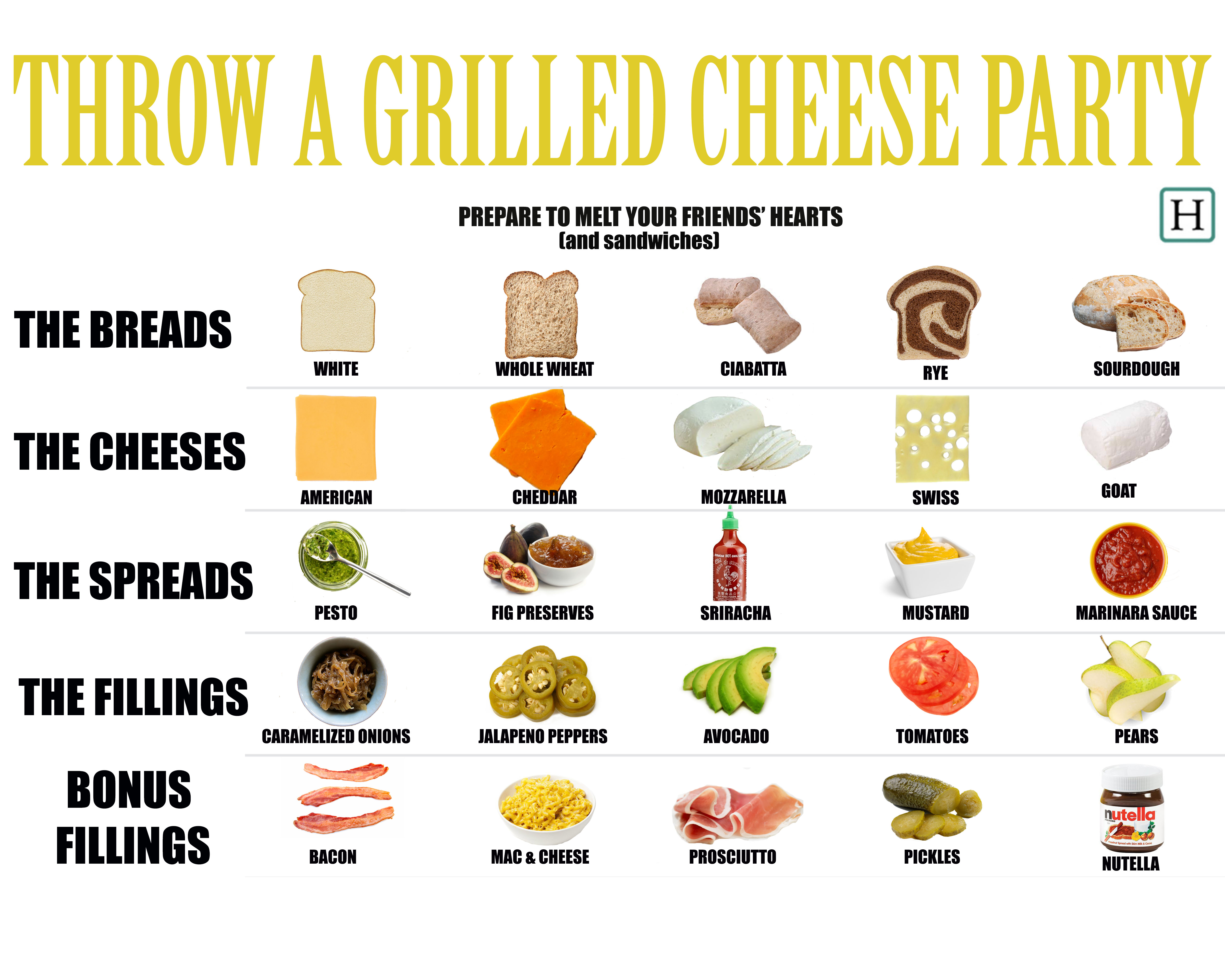 How To Throw A Grilled Cheese Party The Only Kind Of