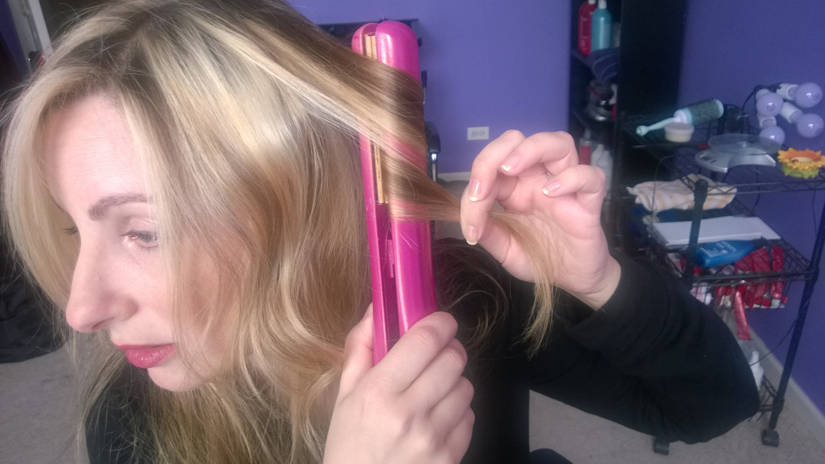 how to curl your hair with a flat iron   huffpost