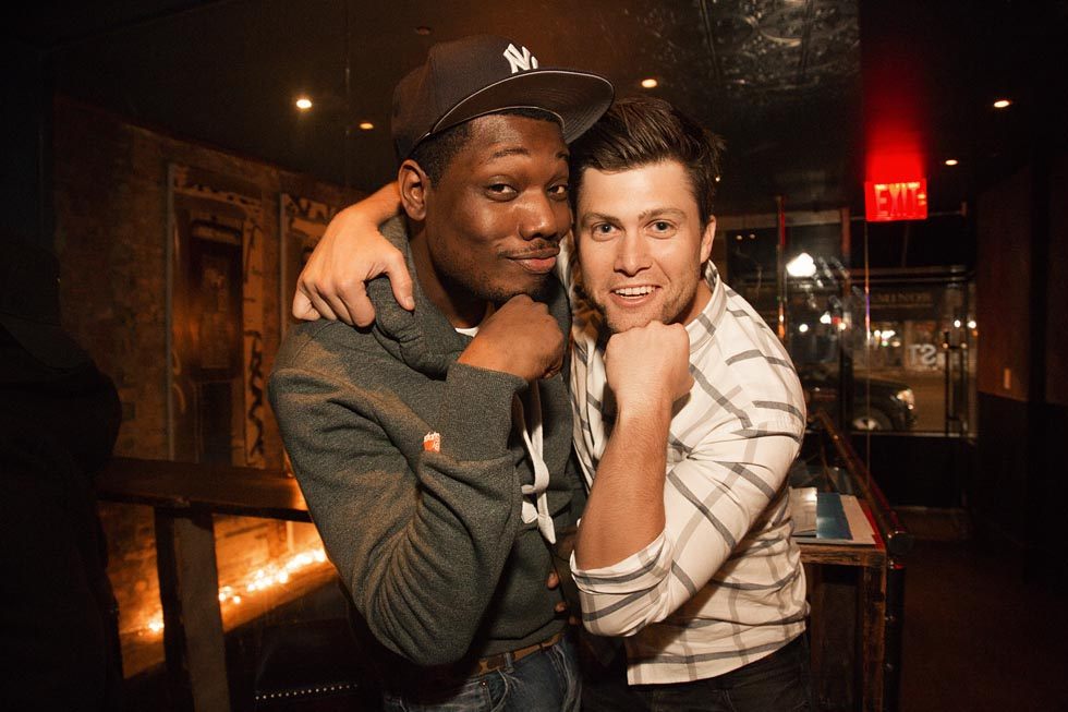 Photo of Michael Che & his friend comedian  Stolen Moment -