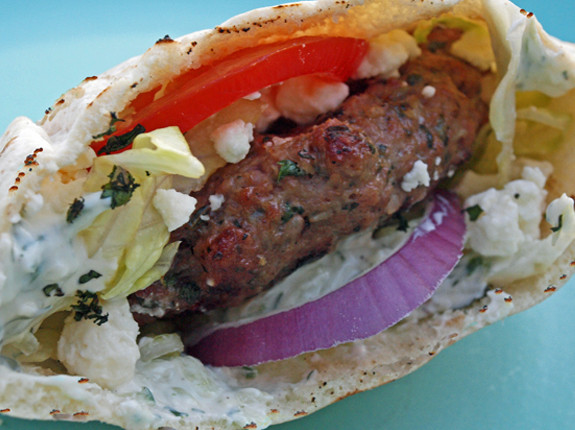 Think outside the burger box with these delicious lamb patties topped ...