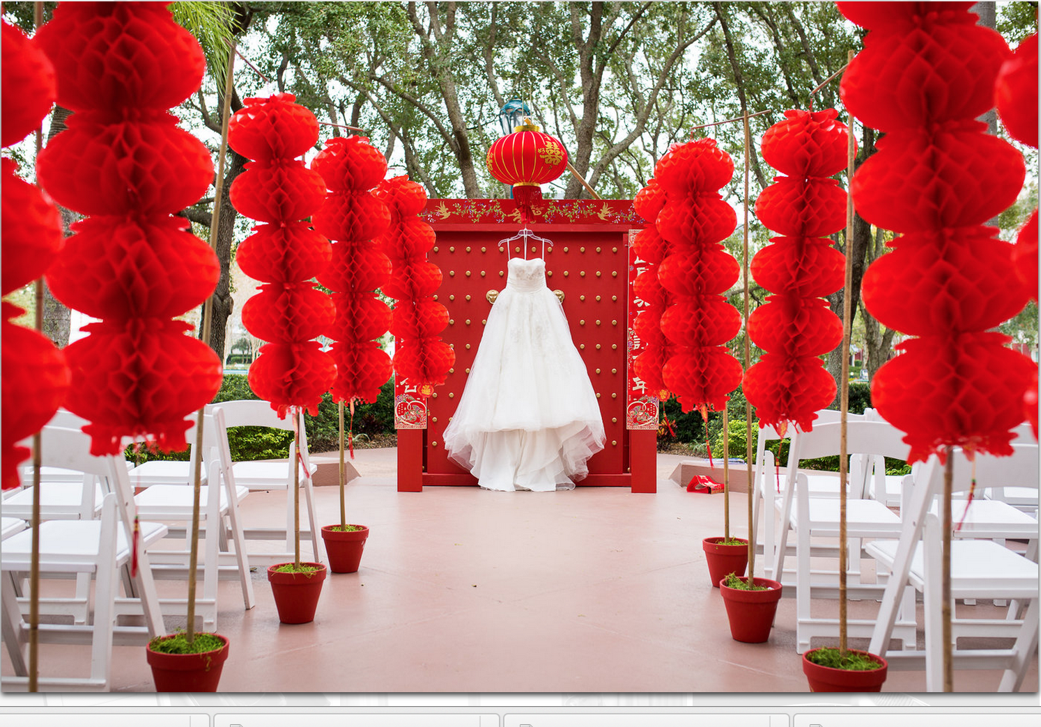Chinese new year themed wedding huffpost for Chinese decorations