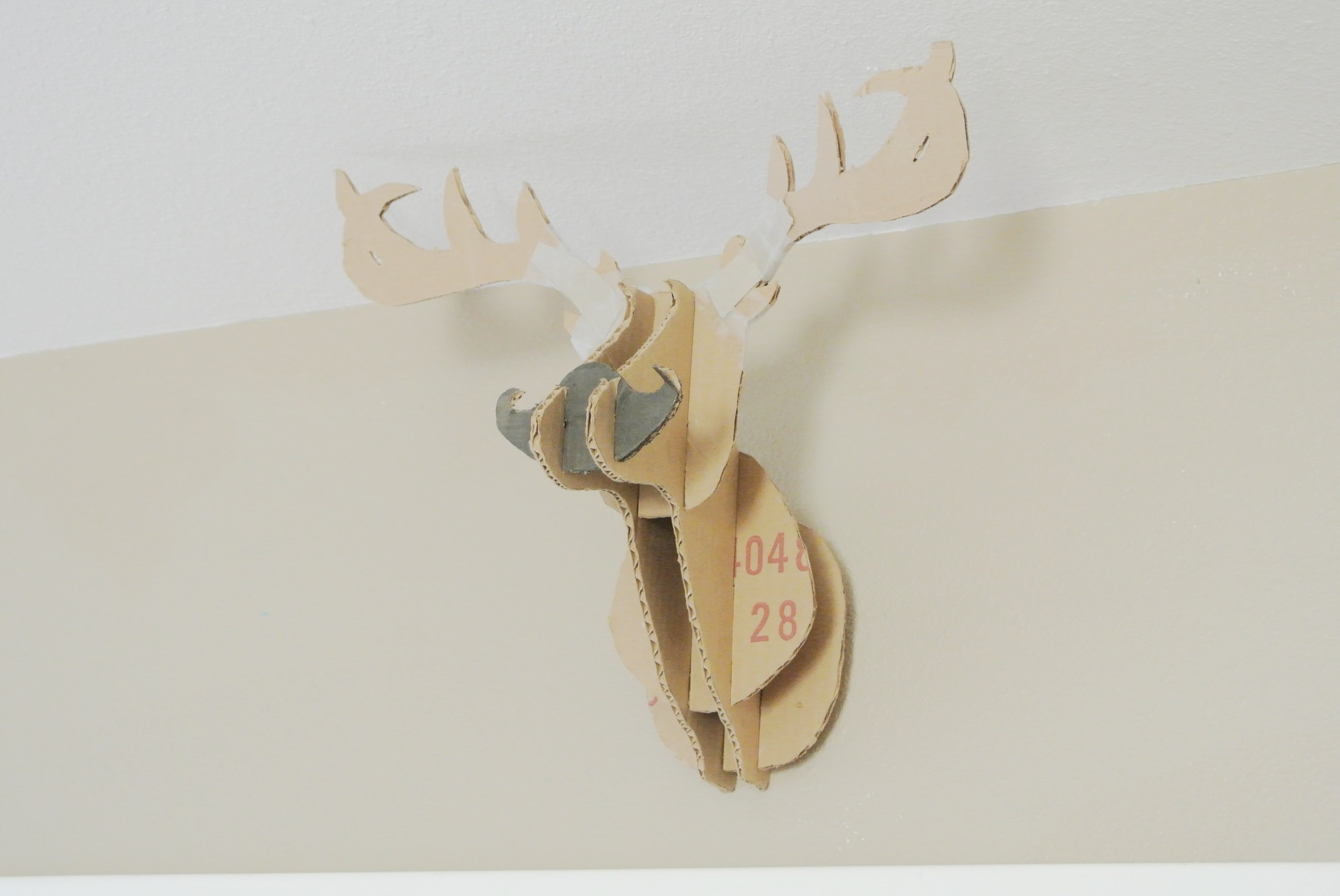 Diy room hacks for the young poor and creative huffpost - Cardboard moosehead ...