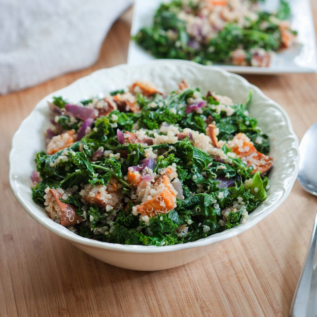 Roasted Sweet Potato Salad Eating Bird Food
