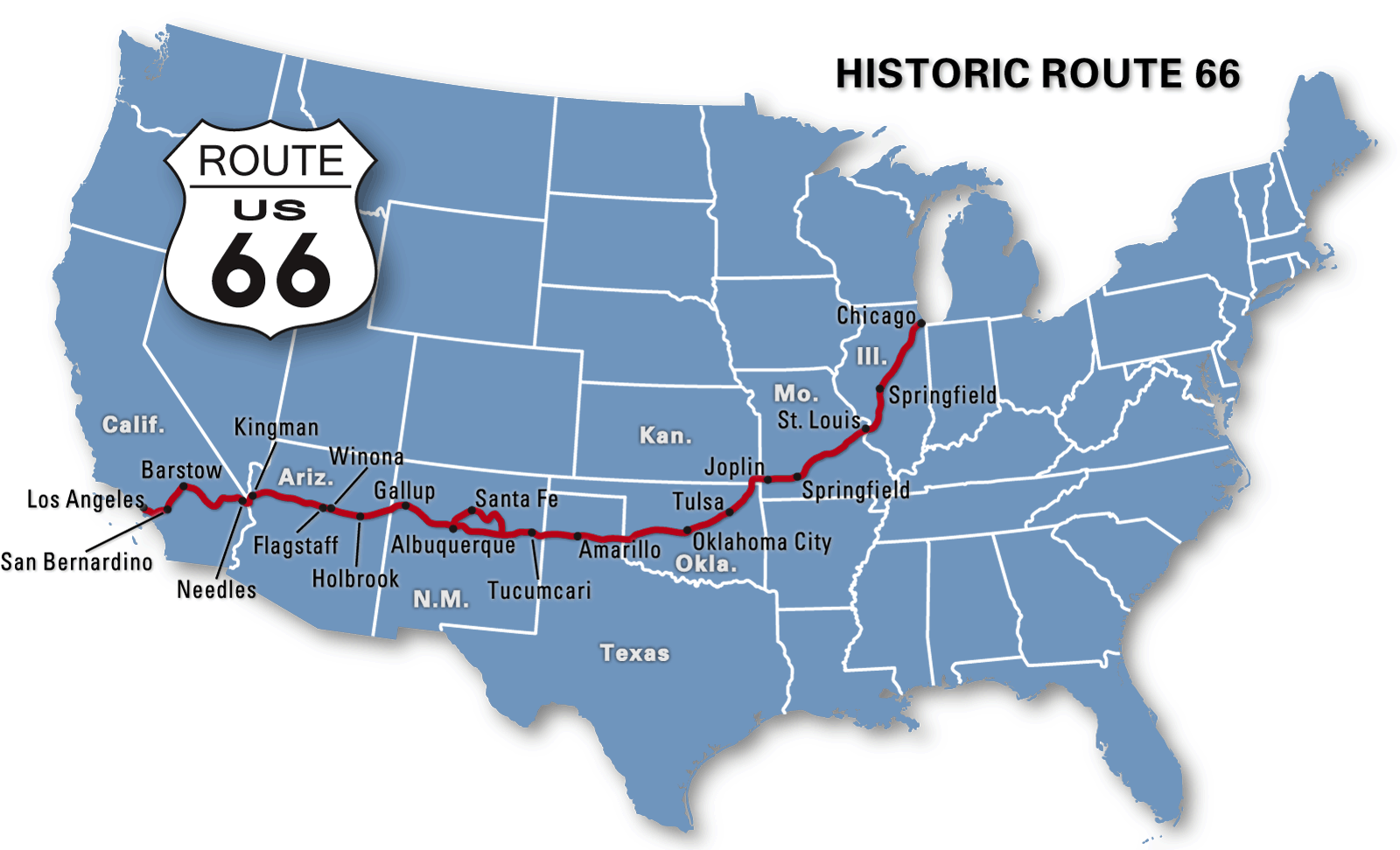 Get Your Kicks on Bicycle Route 66 – Travel Route 66 Map