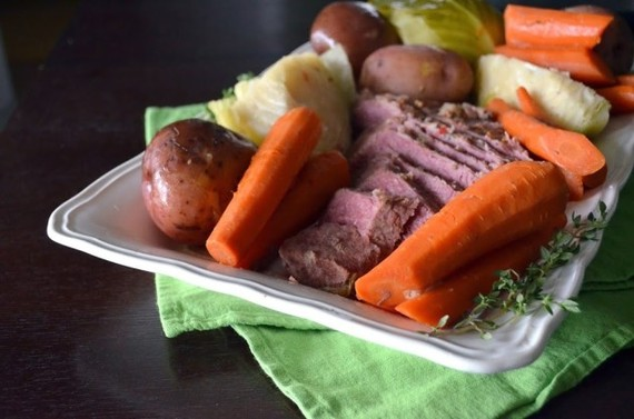 Slow cooker corned beef and cabbage is a St. Paddy's Day dream. Set it ...