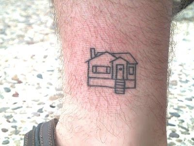 House tattoos are the ultimate home decor huffpost for Minimalist house tattoo