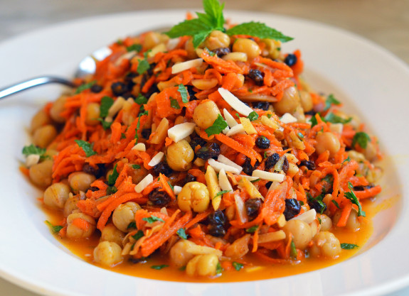 classic carrot-raisin combo, this fragrant and bright Moroccan salad ...