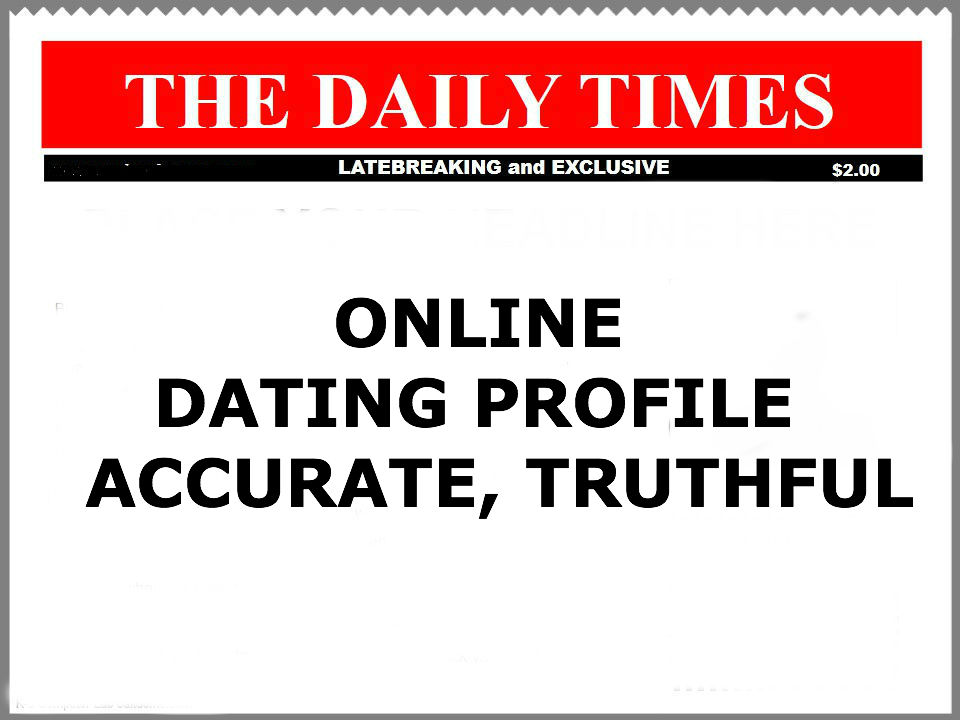 Online dating headlines