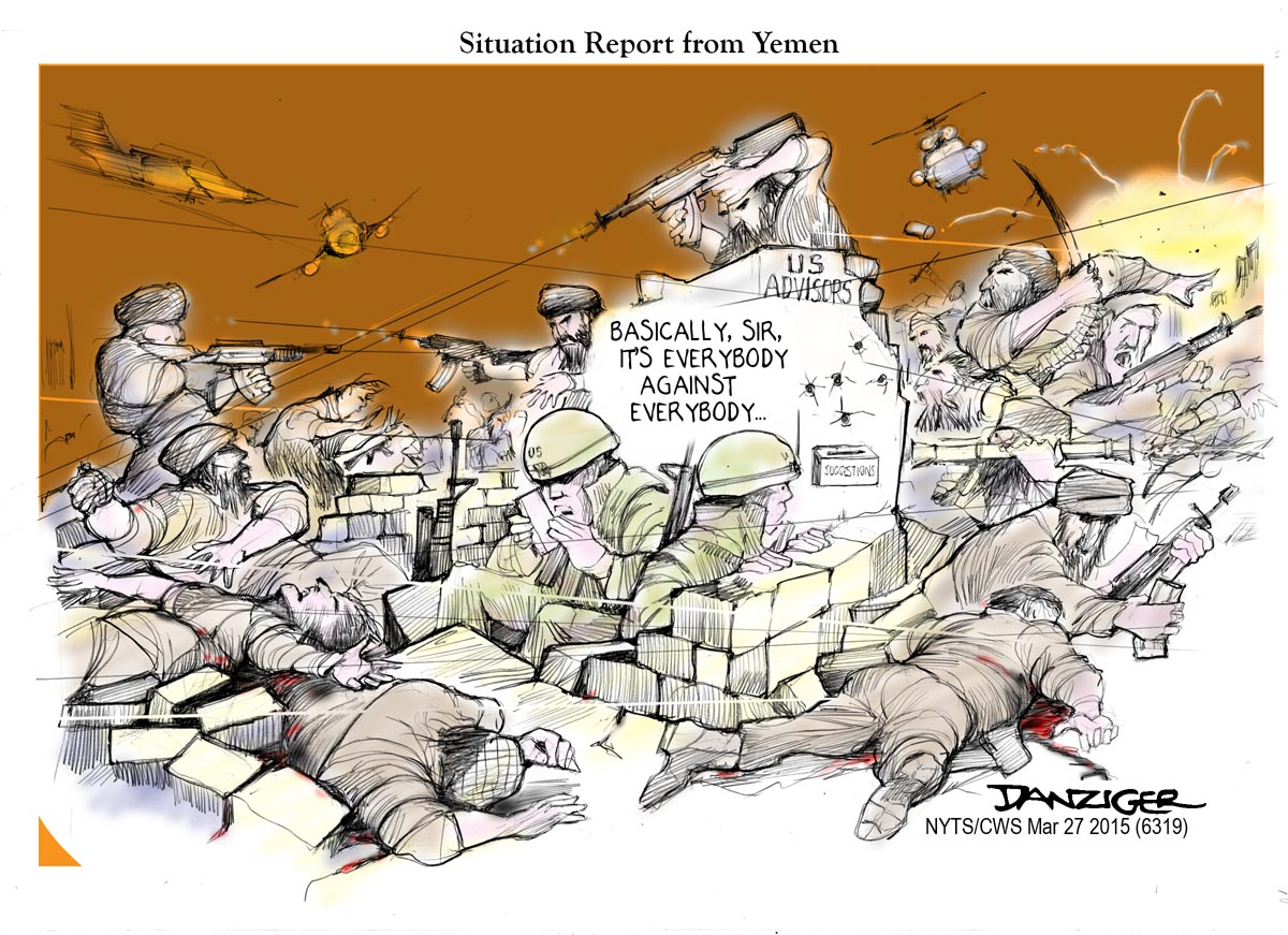 Image result for Yemen War CARTOON