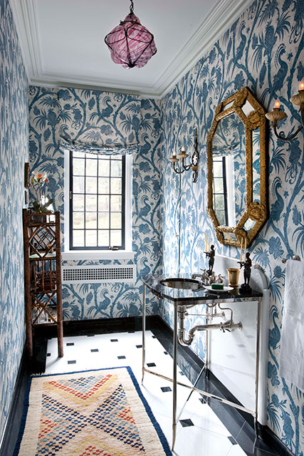 6 Reasons To Use Wallpaper In A Small Bathroom Huffpost Life