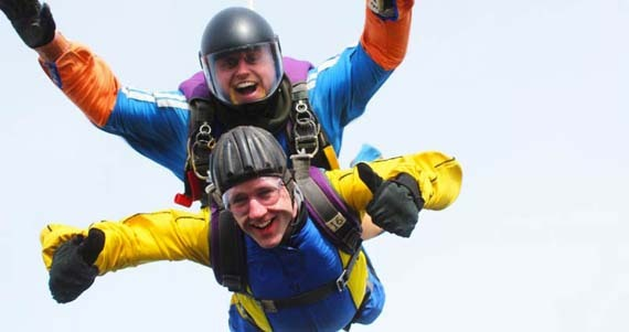 In freefall - rapid weight loss results and a rapid fall through the sky