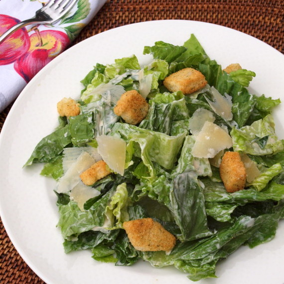 There are many versions of Caesar salad dressing, but this one is ...