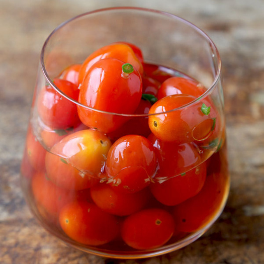 Pickled Red Tomatoes Recipe — Dishmaps