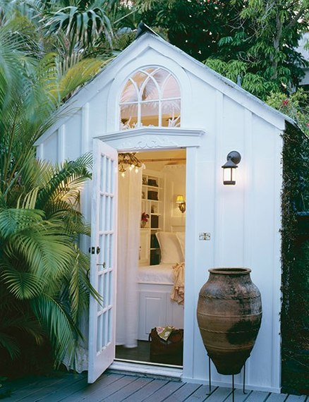 How to transform a simple shed into a lovely garden room for Shed bathroom designs