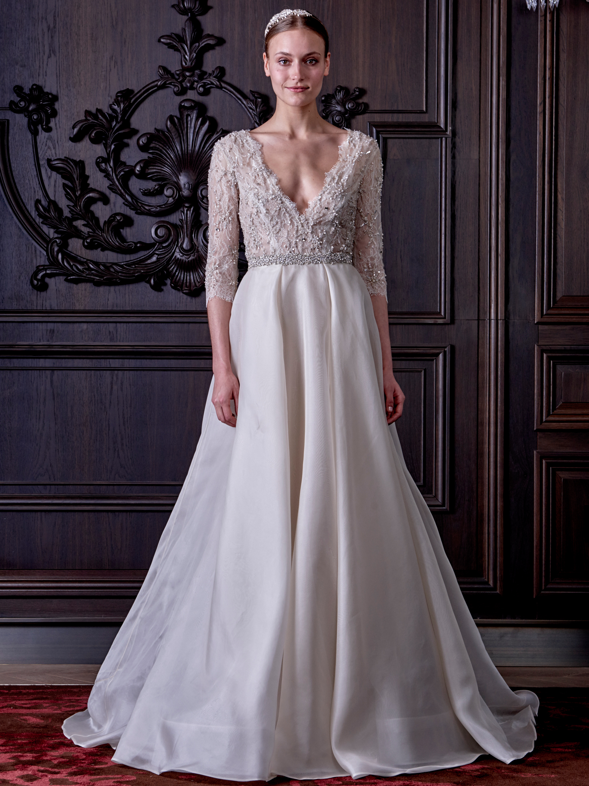 Monique Lhuilliers New Wedding Dress Collection Is Both Naughty And ...
