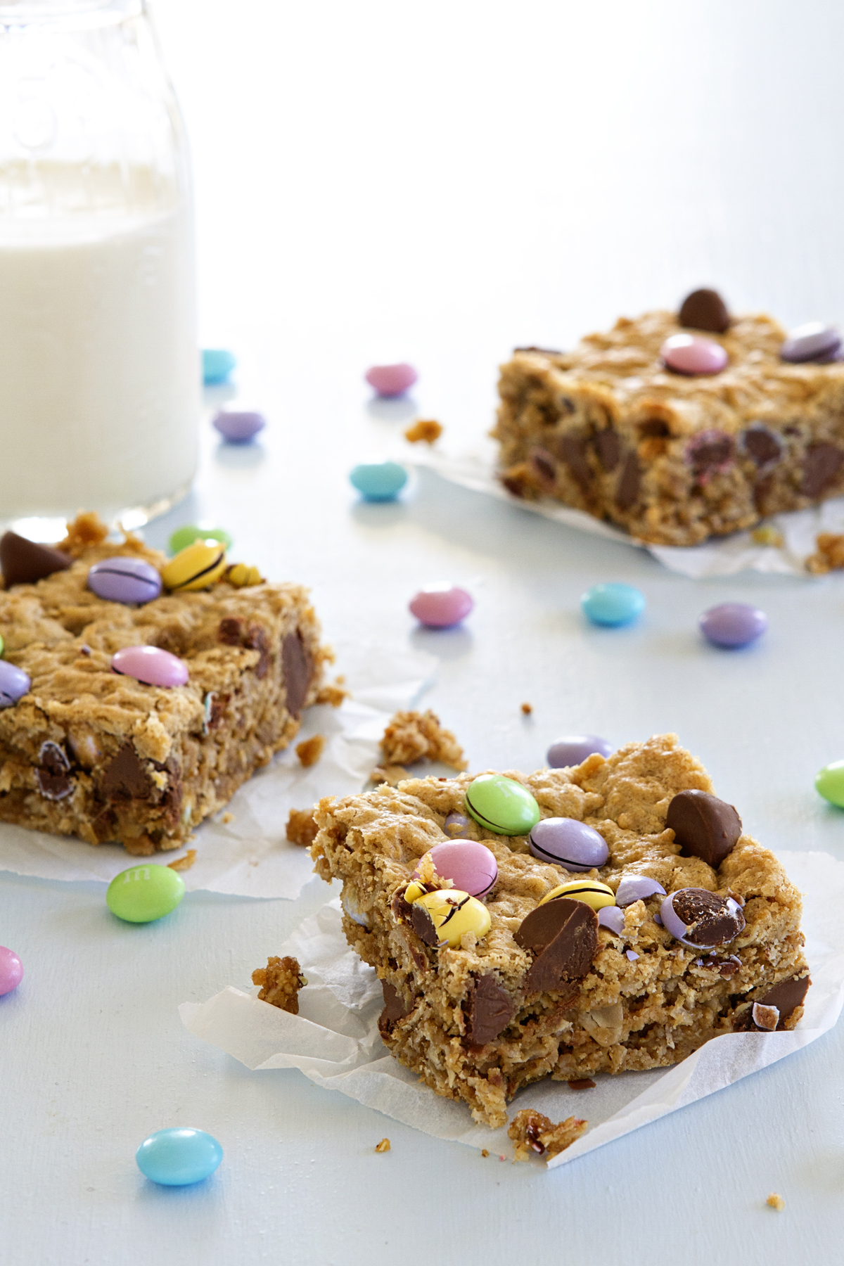 ... to let it go. You've got to make these Monster cookie bars STAT