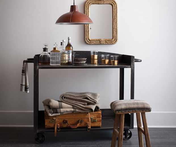 10 handsome bar carts so you can drink in style - How To Style A Bar Cart