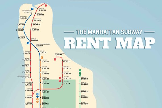 Subway Map Rent.The Manhattan Subway Rent Map Where You Can T Afford To Live By